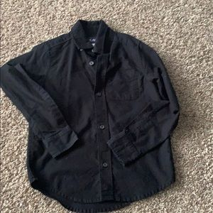 Little boys long black sleeve shirt